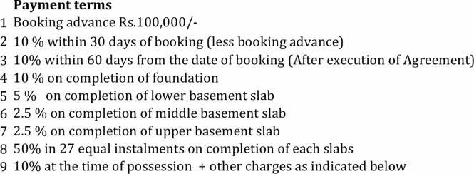Hiranandani Queensgate Payment Plan