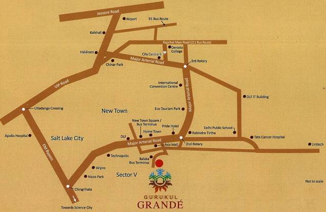 Gurukul Grande Location Plan