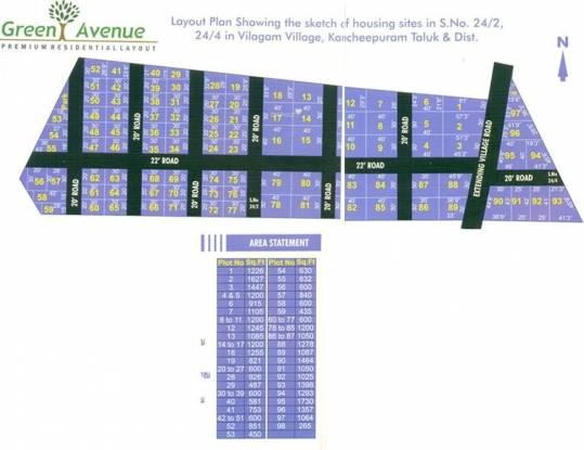Sri Green Avenue Layout Plan