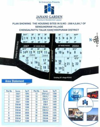 Sri Janani Garden Layout Plan