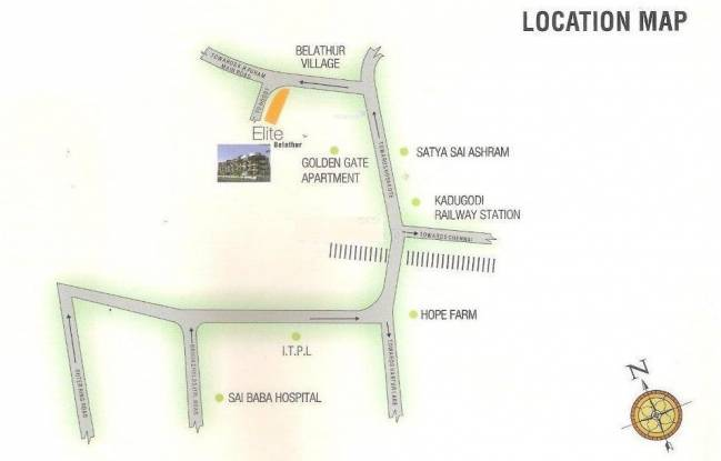 RRR Elite Belathur Location Plan