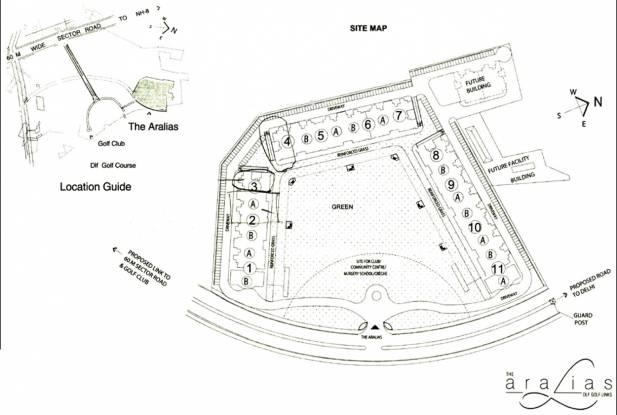 DLF The Aralias Site Plan
