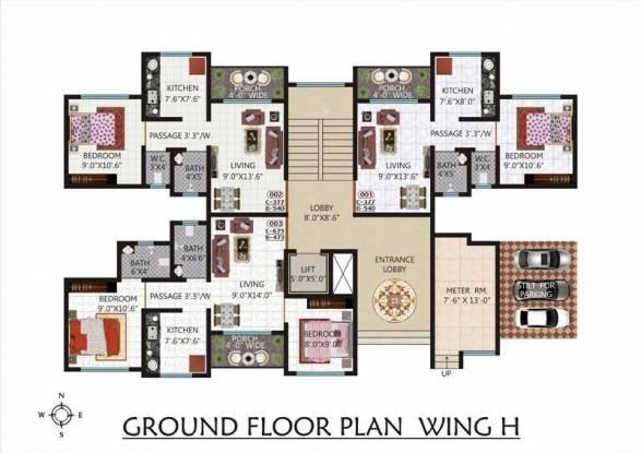 Kohinoor Castles Cluster Plan