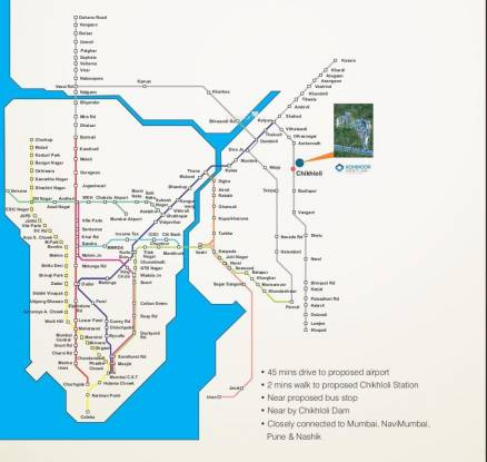 Kohinoor Castles Location Plan