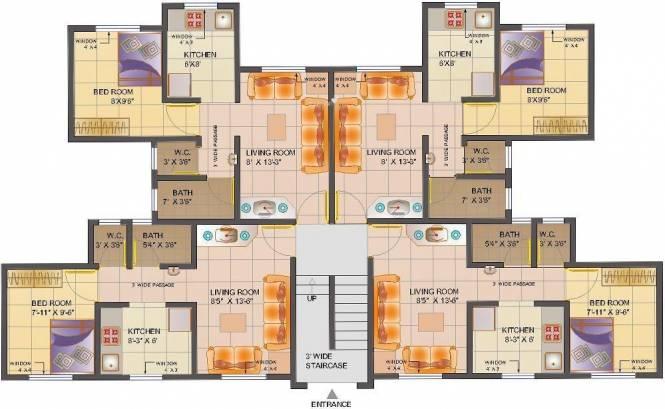 Poddar Samruddhi Complex Cluster Plan