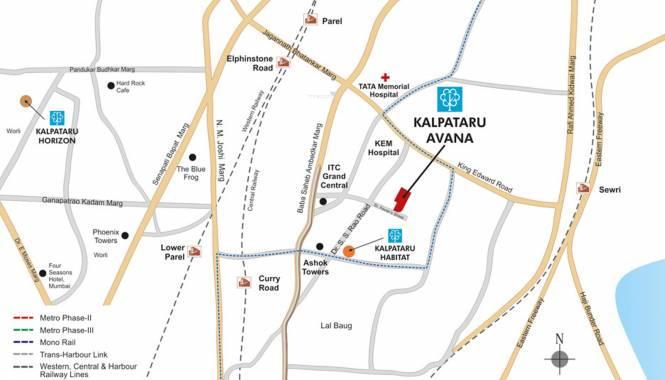 Kalpataru Avana Location Plan