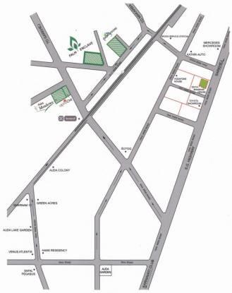 Poddar Palm Enclave Location Plan