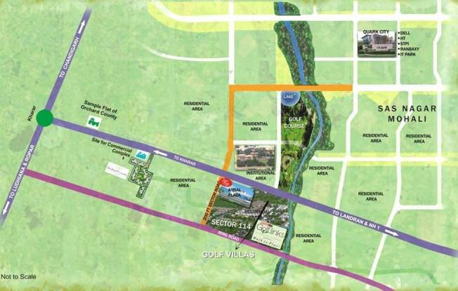 Ansal Golf Links Location Plan