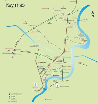 Sangath Diamond Tower Location Plan