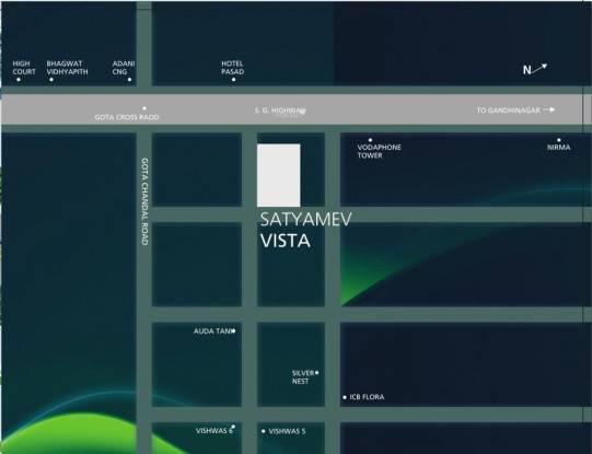 Tithi Satyamev Vista Location Plan