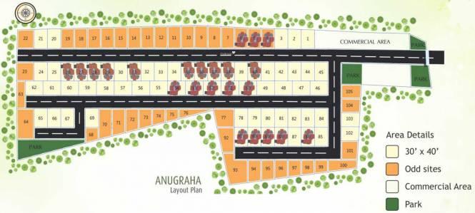 BRN Anugraha Layout Plan