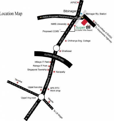Grand Super City Location Plan