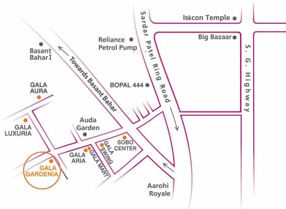 Gala Gardenia Location Plan