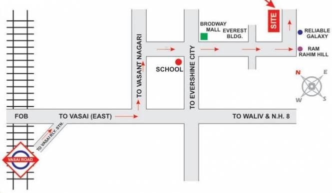 Mira Shree Krishna Complex Location Plan
