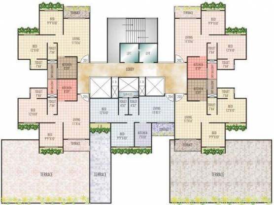 Sunny Orchid Heights Cluster Plan
