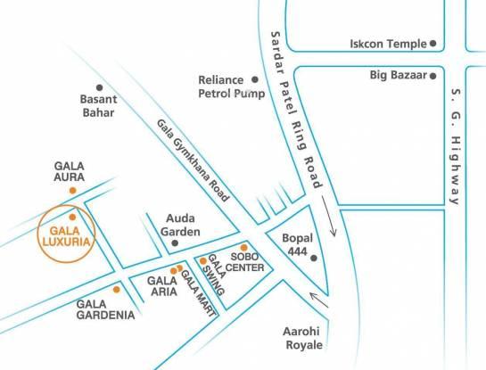 Gala Luxuria Location Plan