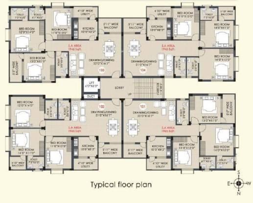 Arya Bright Residency Cluster Plan