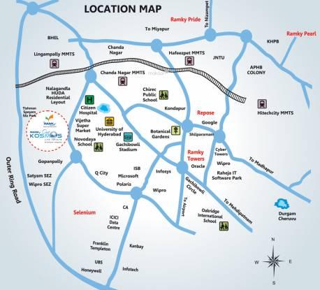 Ramky One Kosmos Location Plan