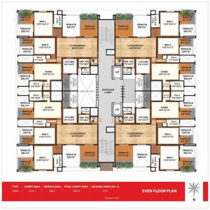 Sanskruti Terraza Cluster Plan