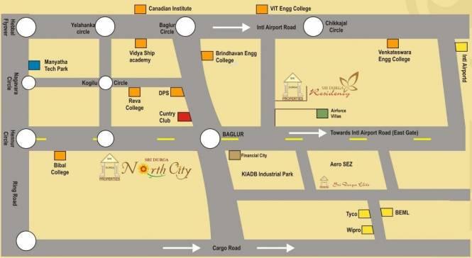 Sri North City Phase 2 Location Plan