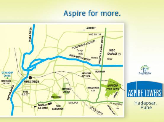 Amanora Aspire Towers Location Plan