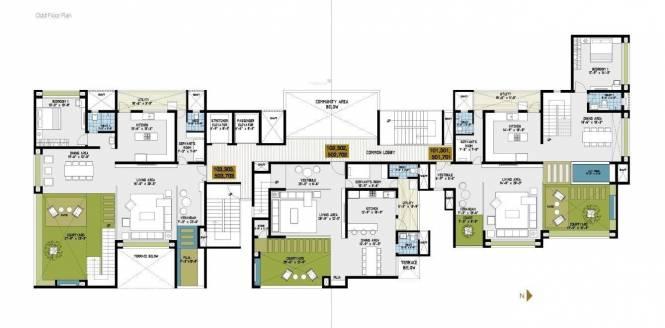 Goyal Courtyard 77 Cluster Plan