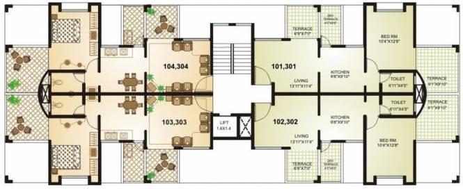 Suratwala Sweet 16 Cluster Plan