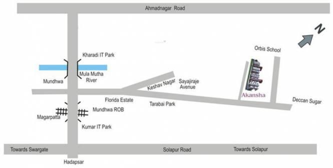 Anandtara Akansha Location Plan