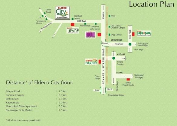 Eldeco City Location Plan