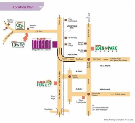 Eldeco Eternia Location Plan
