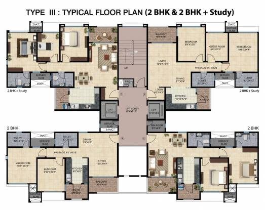 Mahindra Bloomdale Apartment Cluster Plan