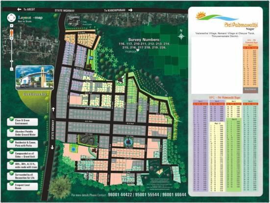 SVP RPG Sri Padmavathi Nagar Site Plan
