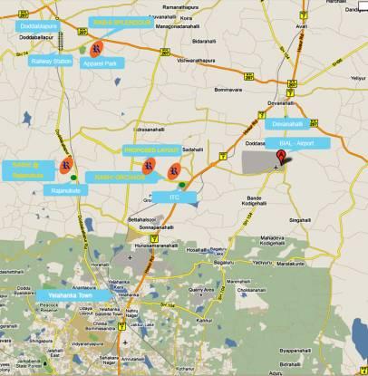 Rashi Splendour Location Plan