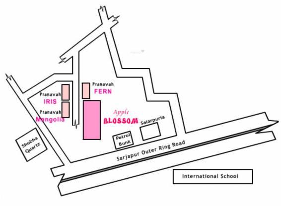 Pranavah Apple Blossom Location Plan