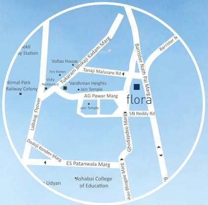 Vardhman Flora Location Plan