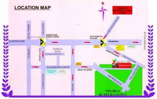 Magnum Srinidhi Location Plan