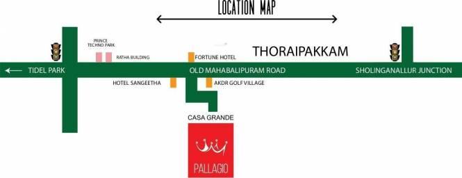 Casagrand Pallagio Location Plan