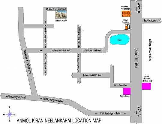 Anmol Kiran Location Plan