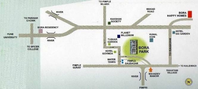 Bora Park Location Plan