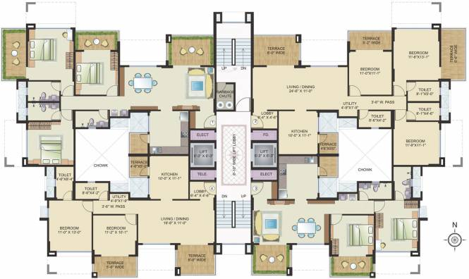 Maruti The Iconic Living Cluster Plan