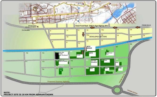 BPTP Park 81 Location Plan