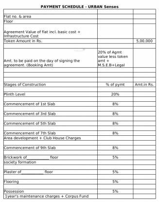 VTP Urban Senses Payment Plan