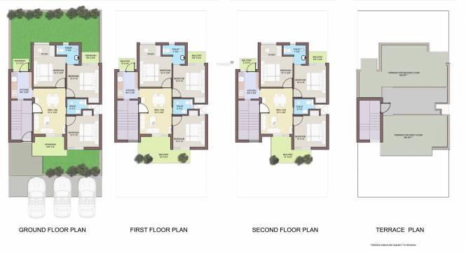 BPTP Park Elite Floors Cluster Plan