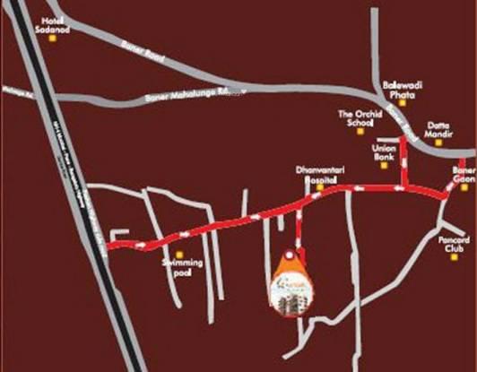 Trimurti Orean Location Plan