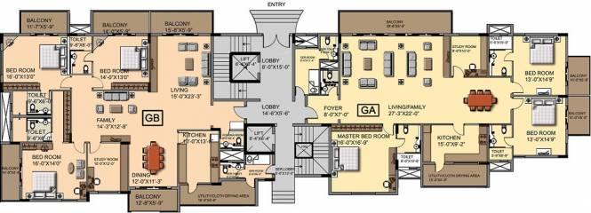 Ashed Regency Aura Cluster Plan