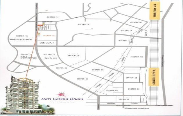 Mangalmurti Hari Govind Dham Location Plan