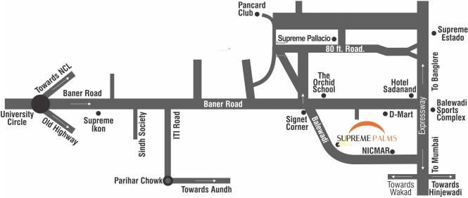 Supreme Palms Location Plan