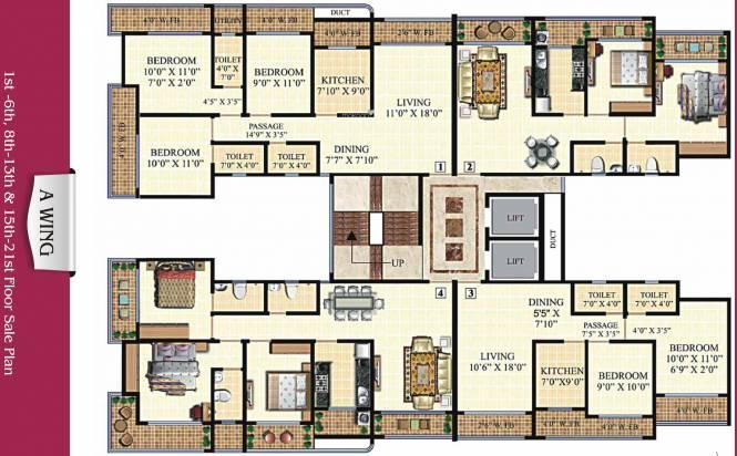 Neminath Heights Cluster Plan