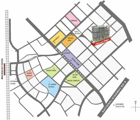 Neminath Heights Location Plan