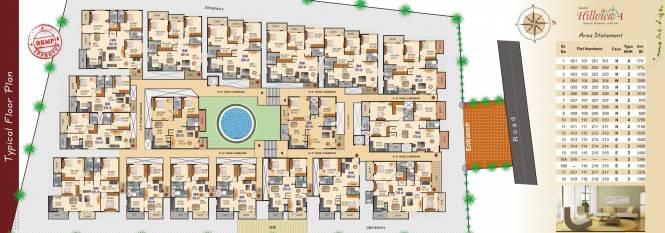 Vaastu Hillview 1 Cluster Plan